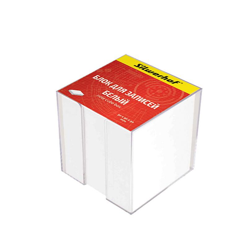 Блок для записей Silwerhof , цвет: белый, 90х90х90 мм бумага для записей многоцветная index 90х90х90
