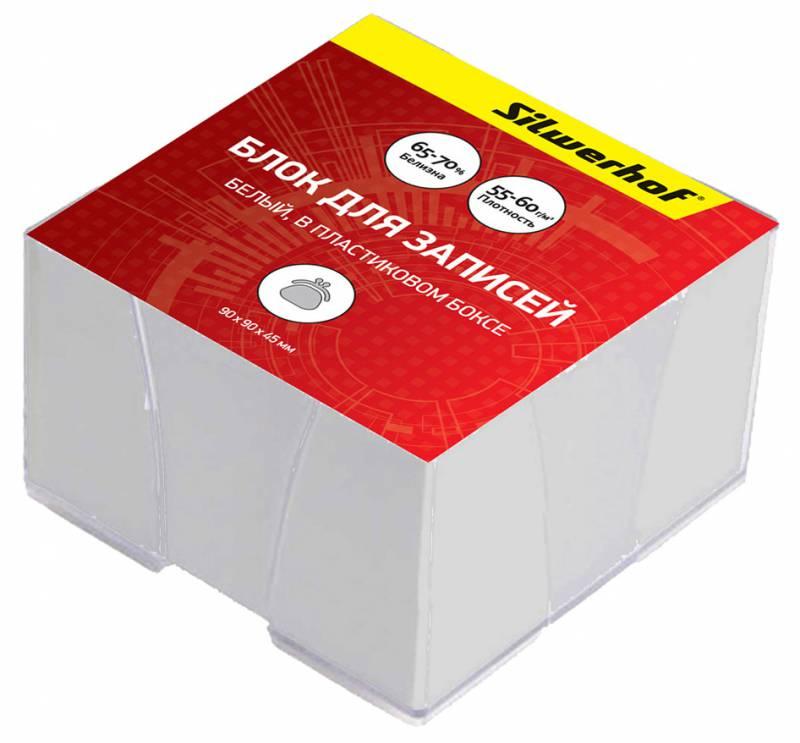 Блок для записей Silwerhof Эконом , цвет: белый, 9 х 9 х 4,5 см. 701011