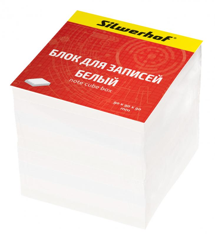 Блок для записей Silwerhof, цвет: белый, 9 х 9 х 9 см. 701002