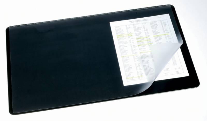 Настольное покрытие Durable, нескользящая основа, цвет: черный, 53x40 см