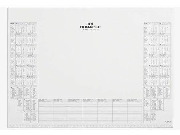 Настольное покрытие Durable, цвет: белый, 57х40.5 см