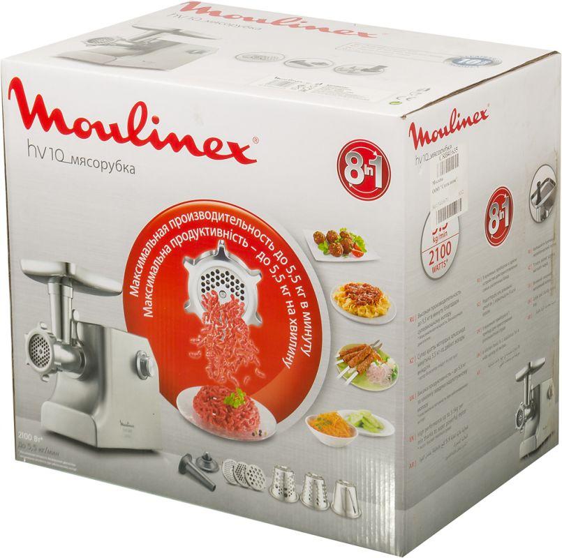 лучшая цена Мясорубка Moulinex ME858D32, 2100Вт, цвет серебристый