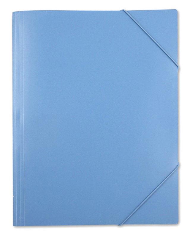 Папка на резинке Бюрократ, пластик, 0.7 мм, цвет: синий, A3
