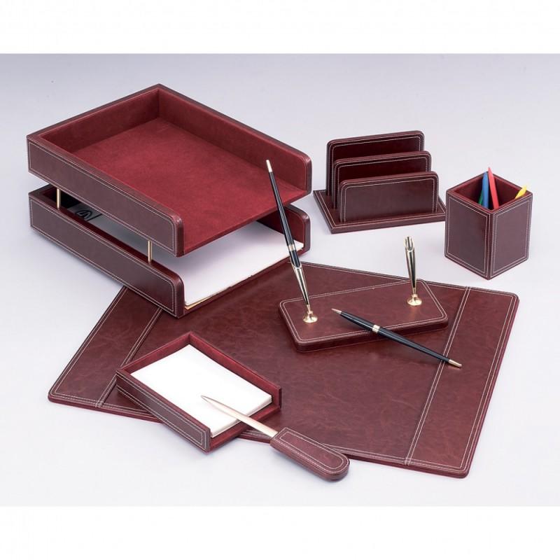 Настольный канцелярский набор Good Sunrise DR7W-1A, 7 предметов, цвет: бордовый настольный канцелярский набор good sunrise m5b 5 5 предметов цвет красный