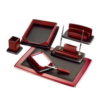 Настольный канцелярский набор Good Sunrise M7LF-1, 7 предметов, цвет: красный/черный настольный канцелярский набор good sunrise m5b 5 5 предметов цвет красный