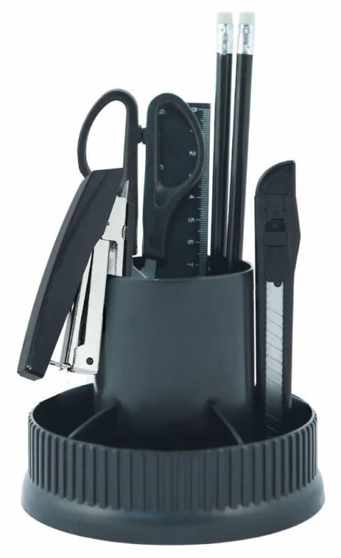 Органайзер настольный Silwerhof, 12 предметов, цвет: черный кисть silwerhof 981127 10