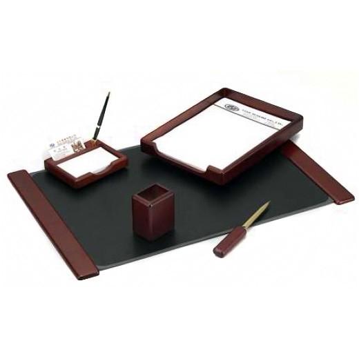 Настольный канцелярский набор Good Sunrise M5B-5, 5 предметов, цвет: красный цена 2017