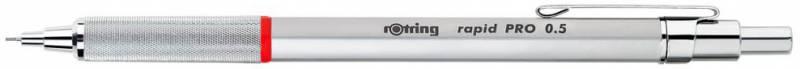 Карандаш механический ROTRING Rapid PRO, 0.5 мм, цвет корпуса: серебристый