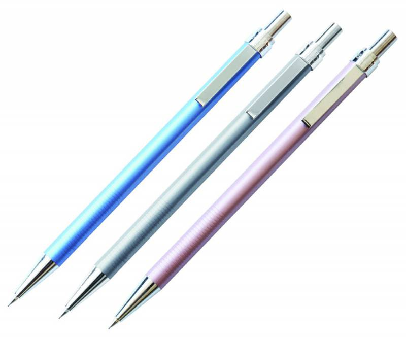 Карандаш механический Deli, 0.5 мм, с ластиком, металлический корпус, цвет корпуса: ассорти карандаш механический deli bumpees 0 7 мм с ластиком