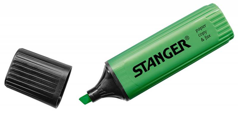 купить Текстовыделитель Stanger, цвет: зеленый по цене 55 рублей