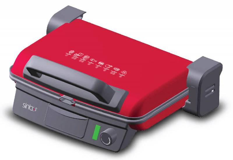 Электрогриль Sinbo SSM 2536, 2000Вт, цвет красный/черный sinbo svc3467 green