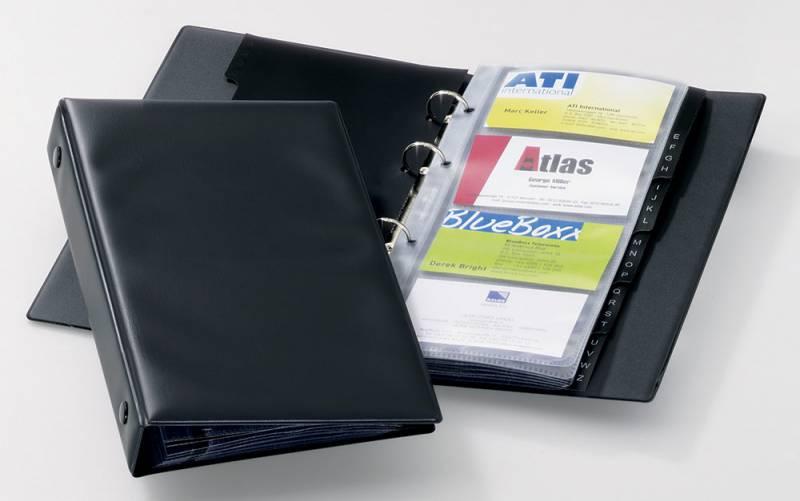 Фото - Визитница Durable Visifix 2441-01 настольная, 96 визиток, цвет черный визитница пвх синяя