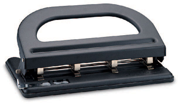 Дырокол Kw-Trio 964 с линейкой, цвет черный все цены