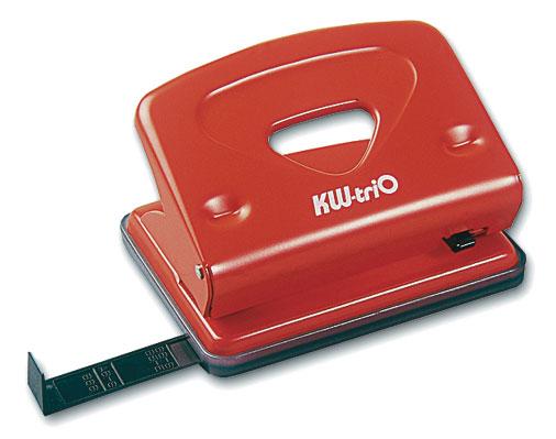 Дырокол Kw-Trio Classic Medium 942RED металлический с линейкой, цвет красный цена