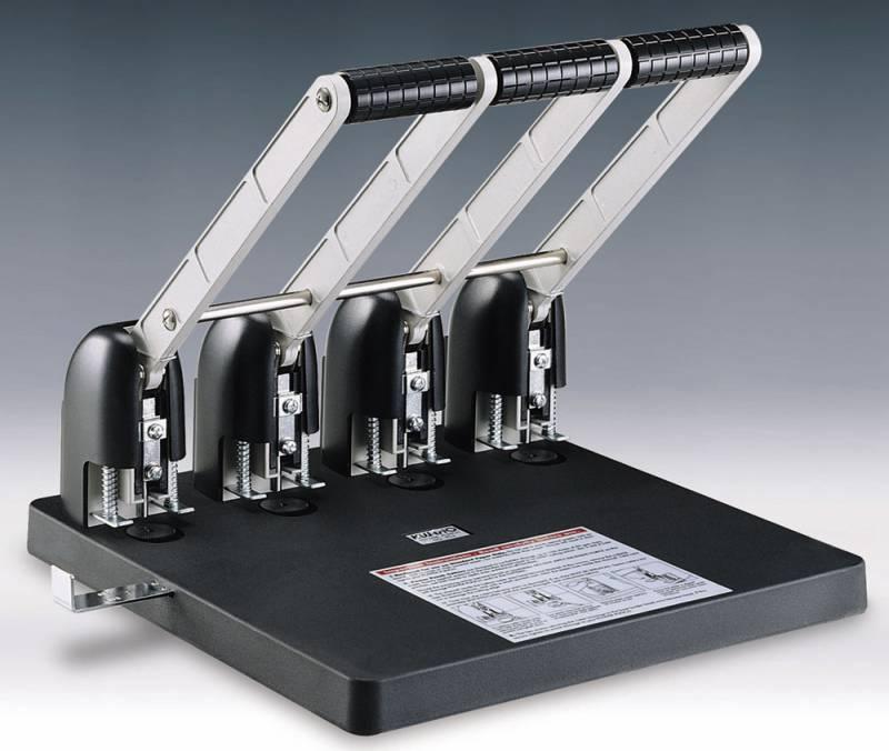 купить Дырокол Kw-Trio Heavy Duty 954 металл, пластик, с линейкой, цвет черный по цене 8930 рублей