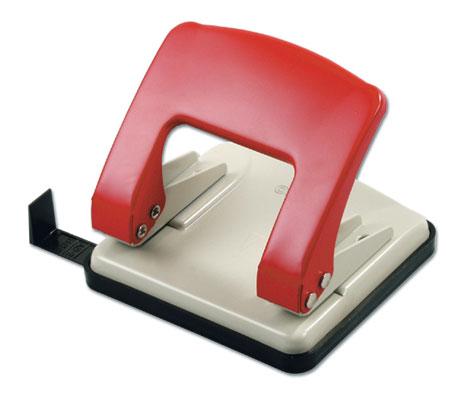 Дырокол Kw-Trio Stylish Medium 966G/RED металлический с линейкой, цвет красный недорго, оригинальная цена