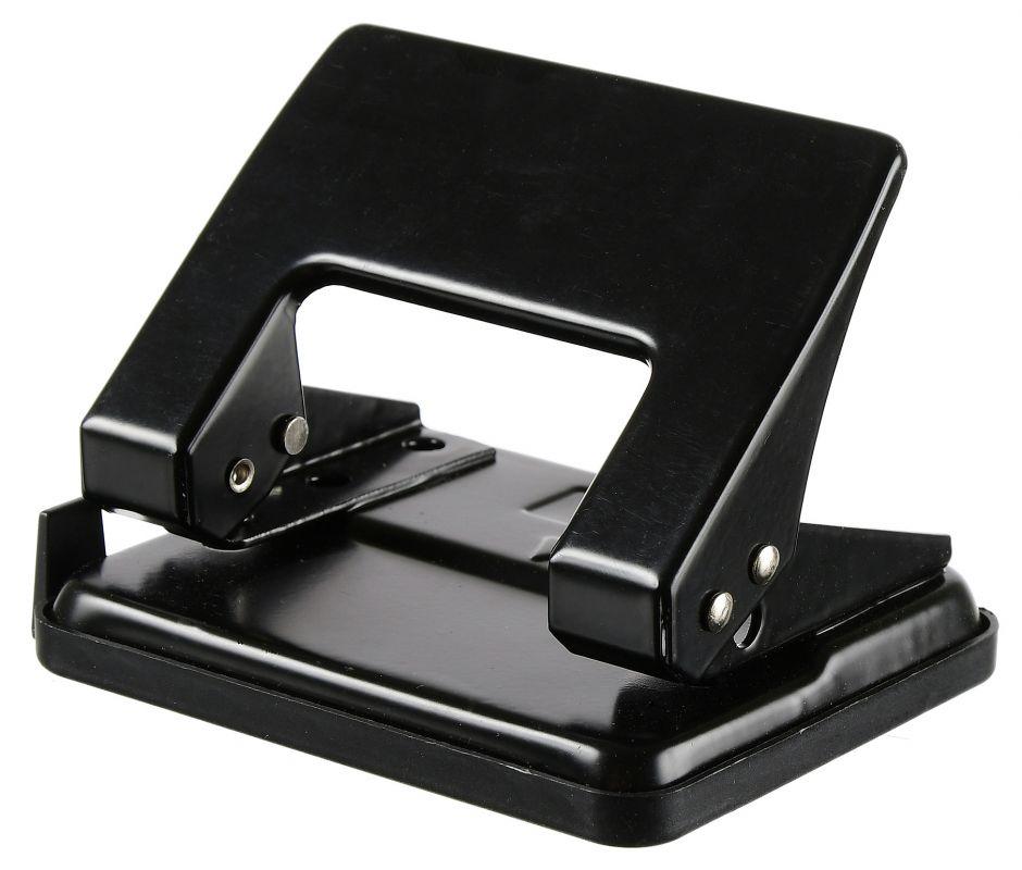 Дырокол Silwerhof 392033-01 металлический, цвет черный silwerhof дырокол schwarz на 30 листов цвет черный