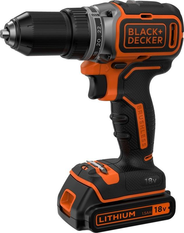 цена на Дрель-шуруповерт Black & Decker BL186KB-QW, 18Вт, аккумулятор