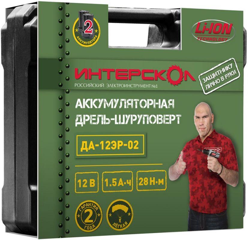 Дрель-шуруповерт Интерскол ДА-12ЭР-02 ДМ, аккумулятор