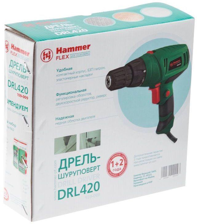 цена на Дрель-шуруповерт Hammer Flex DRL420А