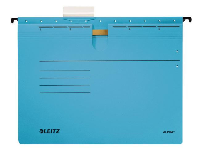 Папка подвесная Esselte Leitz Alpha, со скоросшивателем, цвет: синий, A4 папка уголок esselte 150 мкм глянцевые синие цена за штуку