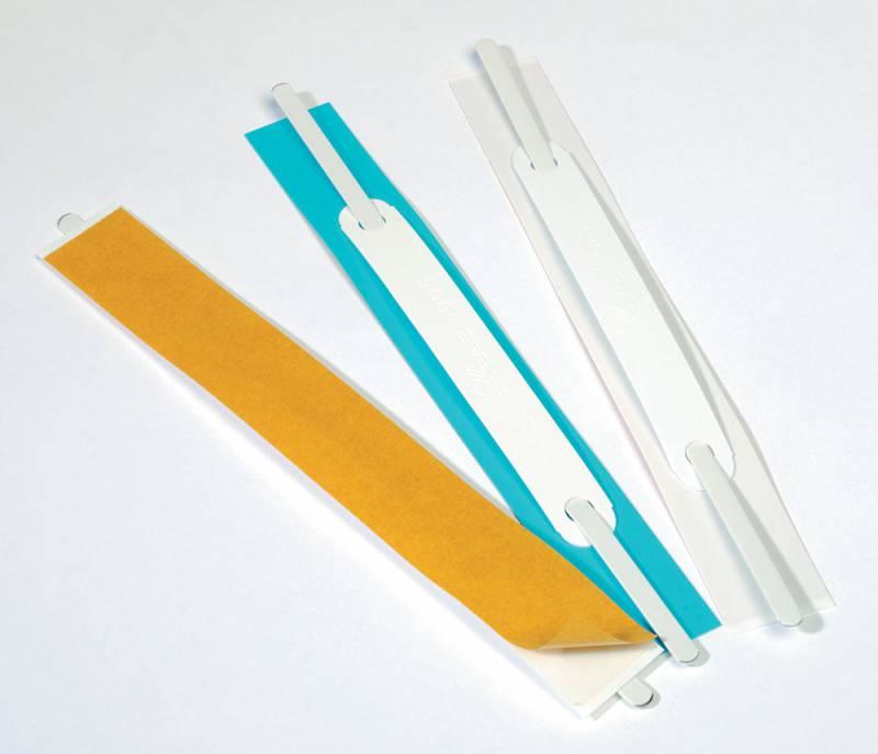 Скоросшиватель Durable вставка, самоклеющийся, цвет: белый, 100 шт