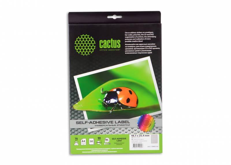 Этикетки Cactus С-30485254, 40 штук на листе, A4, 25.4x48.5мм, 50 листов
