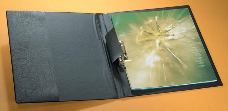 Папка боковым зажимом Durable Lever Clamp 2230-01, карман продольный внутренний, A4, вместимость:100 листов Durable