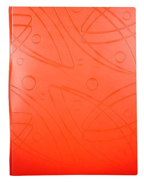 Папка Бюрократ Galaxy -GA07COR, металлический зажим, цвет:оранжевый, A4, пластик 0.7мм