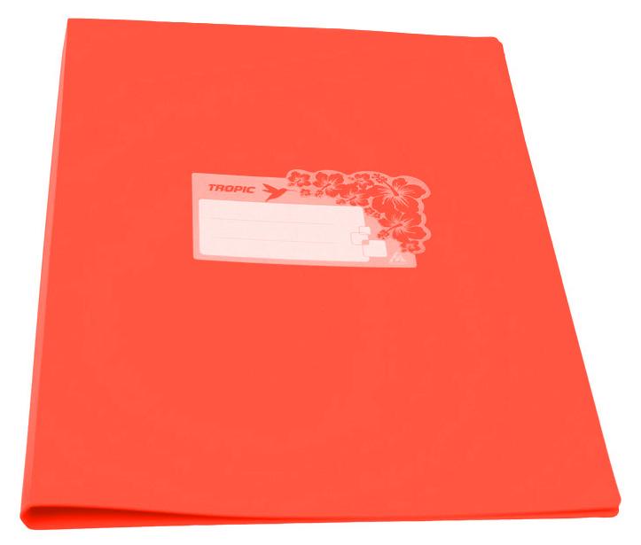 Папка Бюрократ Tropic -TR07COR,металлический зажим, цвет:оранжевый, A4, пластик 0.7мм