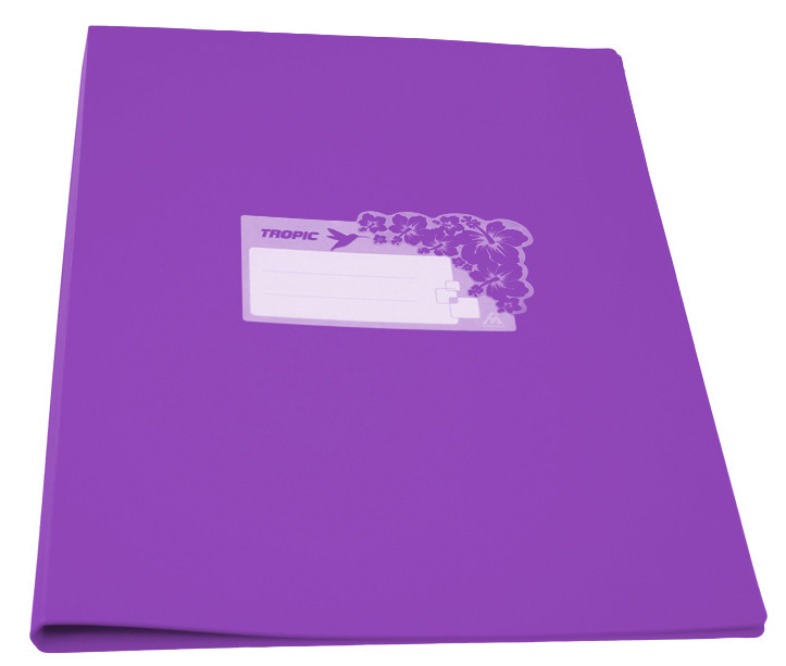 Папка Бюрократ Tropic -TR07CVIO,металлический зажим, цвет:фиолетовый, A4, пластик 0.7мм