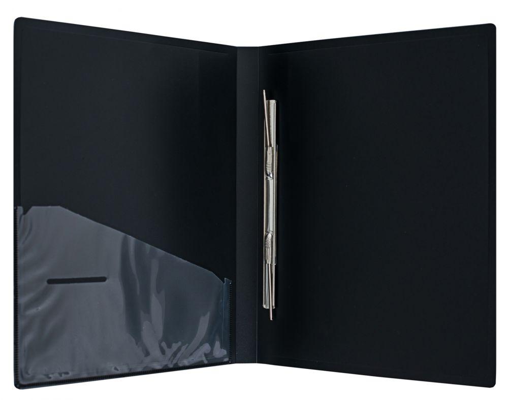 Папка-скоросшиватель Silwerhof Perlen, 0.7 мм, цвет: мокрый асфальт металлик, A4