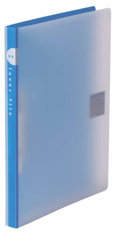 Папка Kokuyo, автоматический зажим, пластик, 0.75 мм, цвет: синий, A4 kokuyo высокая прозрачная офисная сумка книга с документами карманная файловая книга папка с листом бумаги a4 60 страниц желтый wcn tcb2610y