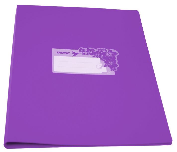 Папка, металическая пружина,скоросшиватель Бюрократ Tropic -TR07PVIO, A4, пластик, 0.7мм, цвет: фиолетовый-TR07PVIOПапка метал.пруж.скоросш. Бюрократ Tropic -TR07PVIO A4 пластик 0.7мм фиолетовый