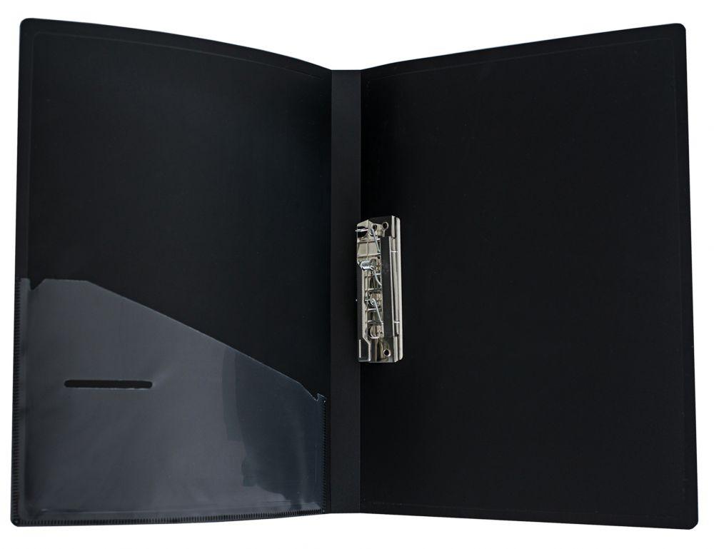 Папка Silwerhof Perlen, A4, с металлическим зажимом, цвет: синий металлик