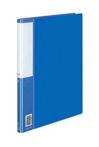 Папка Kokuyo, с металлическим зажимом, формат A4, цвет: синий kokuyo высокая прозрачная офисная сумка книга с документами карманная файловая книга папка с листом бумаги a4 60 страниц желтый wcn tcb2610y