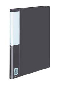 Папка Kokuyo Posity P3(FU)-330DM, A4, металлический зажим, цвет: черный kokuyo высокая прозрачная офисная сумка книга с документами карманная файловая книга папка с листом бумаги a4 60 страниц желтый wcn tcb2610y