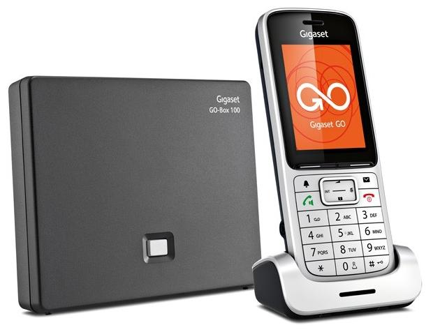 Телефон IP Gigaset SL450A GO, цвет серебристый телефон