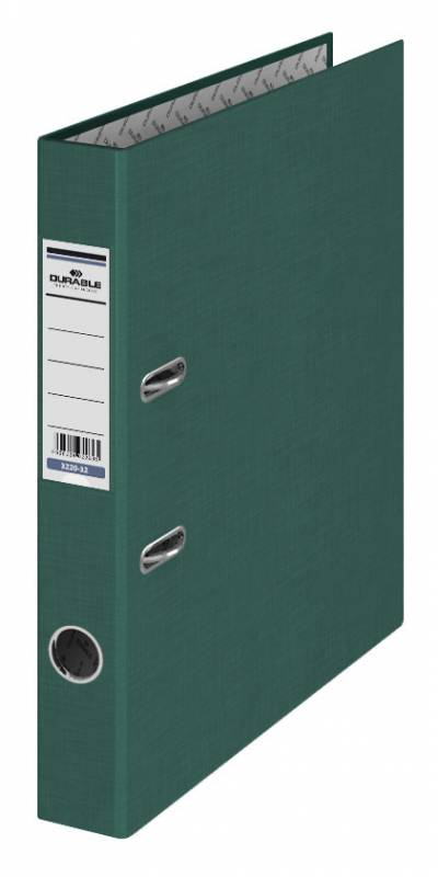 Папка-регистратор Durable, цвет: темно-зеленый, A4 папка регистратор durable 3220 01 a4 50мм бумвинил черный 25 шт кор