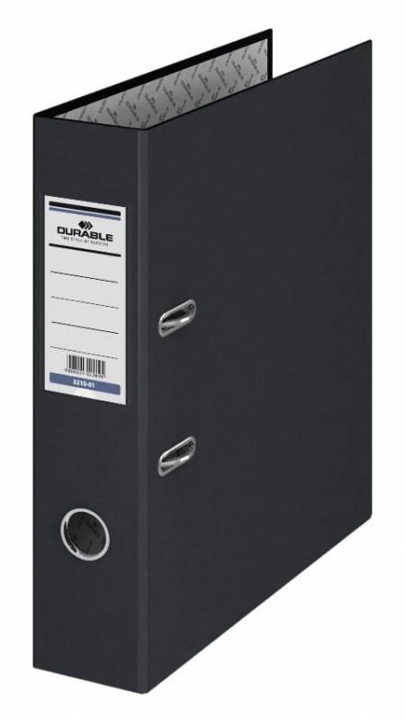 Папка-регистратор Durable, цвет: черный, A4 папка регистратор rainbow a4