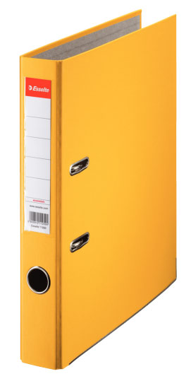 Папка-регистратор Esselte, формат A4, цвет: желтый папка регистратор rainbow a4