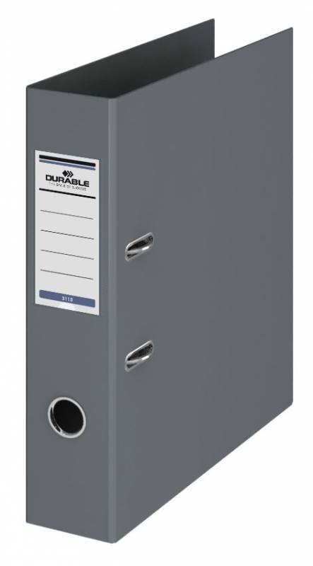 Папка-регистратор Durable 3110-10, A4 70 мм, ПВХ, цвет: серый папка регистратор rainbow a4