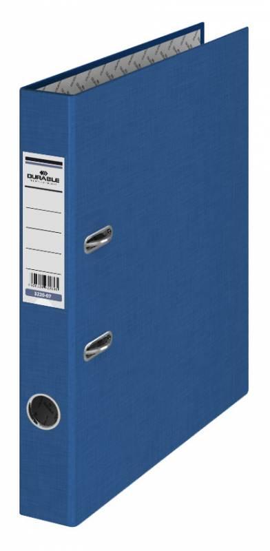 Папка-регистратор Durable 3220-07, A4 50 мм, бумвинил, цвет: синий папка регистратор rainbow a4