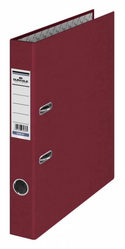 Папка-регистратор Durable 3220-31, бумвинил, цвет: бордовый, A4, 50 мм папка регистратор rainbow a4