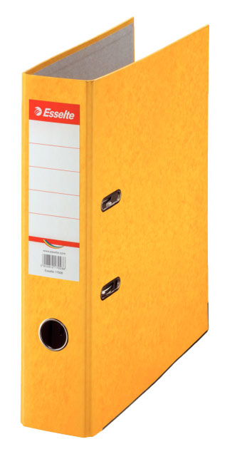 Папка-регистратор Esselte Rainbow 17928P, A4 75 мм, картон, цвет: желтый папка регистратор rainbow a4