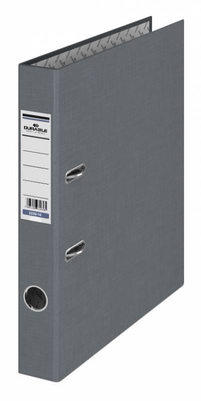 Папка-регистратор Durable 3220-10, A4, 50 мм, бумвинил, цвет: серый папка регистратор durable 3220 01 a4 50мм бумвинил черный 25 шт кор