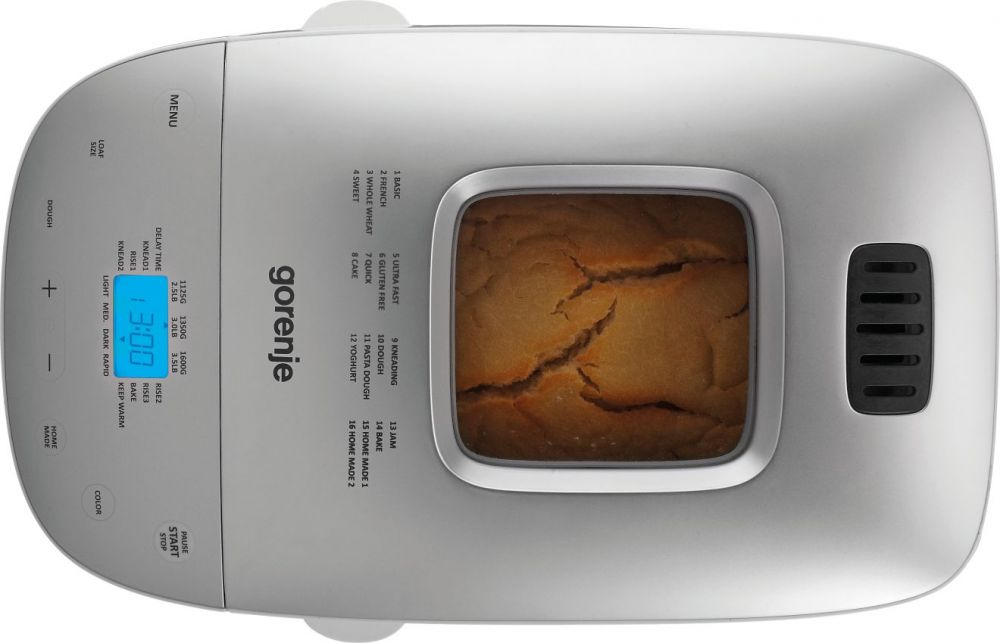 Хлебопечь Gorenje BM1600WG 850Вт, цвет: белый, серебристый gorenje g51103aw