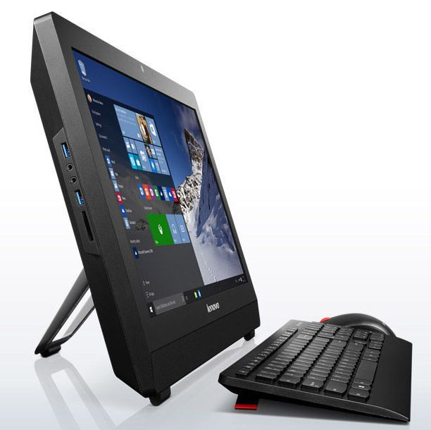 Моноблок Lenovo S200z, 10HA001ERU, 19.5, черный системный блок dell optiplex 3050 sff i3 6100 3 7ghz 4gb 500gb hd620 dvd rw linux клавиатура мышь черный 3050 0405