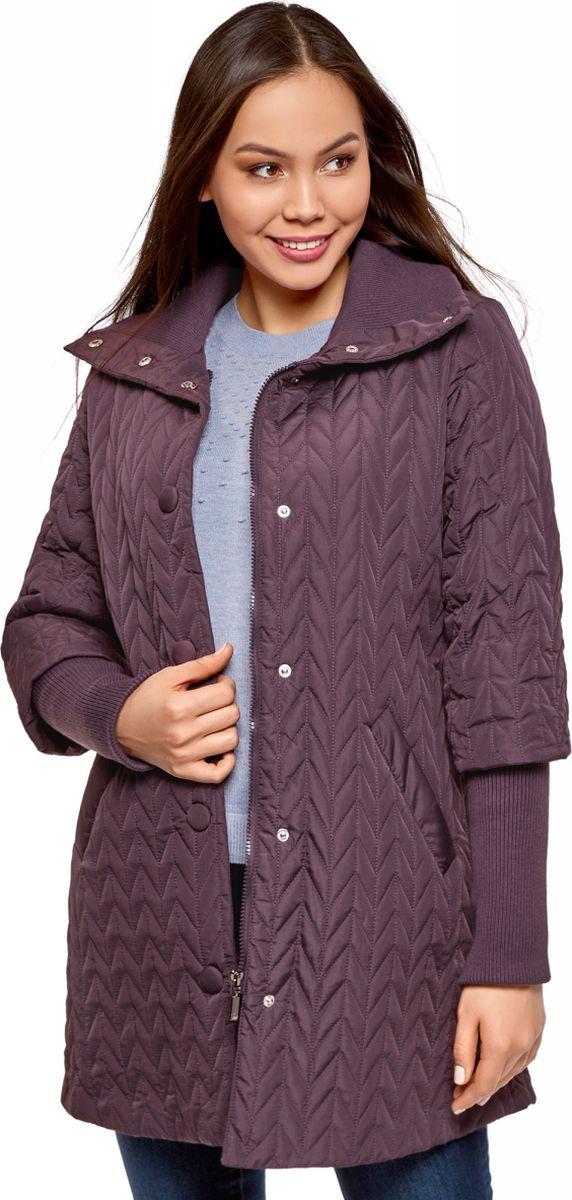 Пуховик oodji утепленное драповое пальто