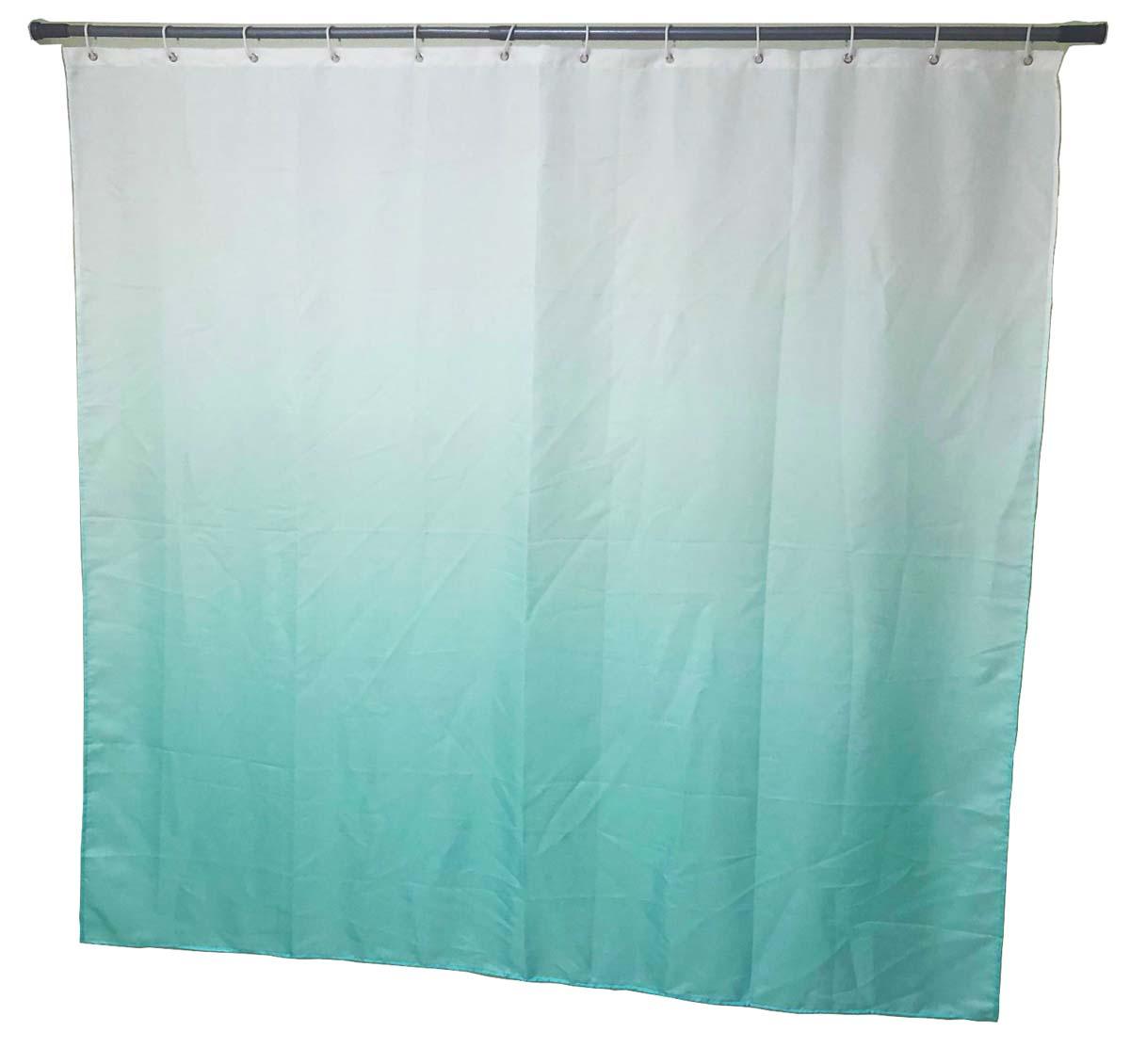 все цены на Штора для ванной Swensa Gradient, цвет: голубой, 180 х 180 см онлайн